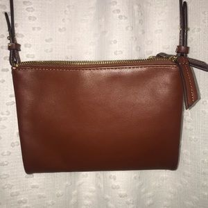 Old Navy Brown Faux Leather Crossbody Purse